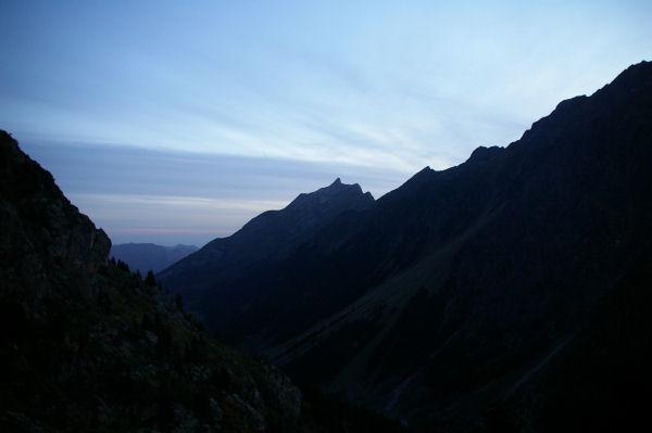 Le pic du Midi d&#39Arrens, au petit matin depuis la Mouic