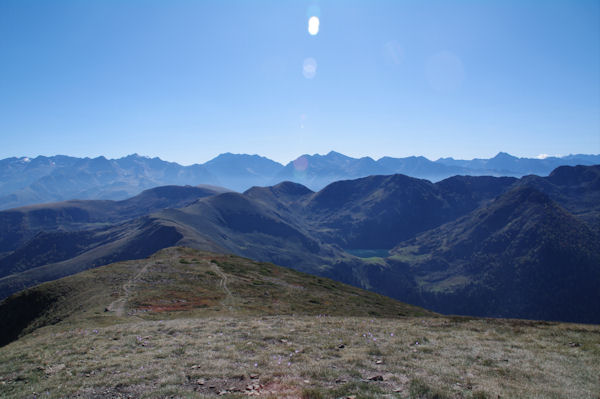 Depuis le Mont Né, panorama du Cap de Seil de la Baque au Pic d_Aret