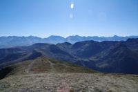 Depuis le Mont Ne, panorama du Cap de Seil de la Baque au Pic d'Aret