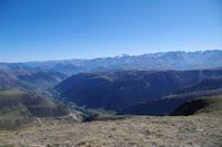 La Vallee de Bourg d'Oueil, au fond, l'Aneto