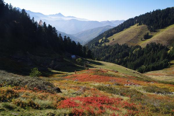 Couleur d_automne sous le Mont Né, au dessus de la vallée de Bareilles