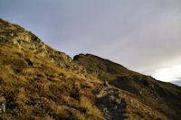 La montée finale au Pic de Montaigu