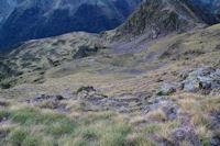 Les pentes raides Sud Est du Pic de Montaigu