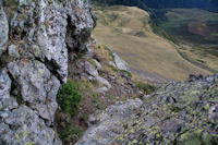 Un à pic sur les crêtes du Pic de Montaigu
