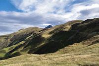 Le Pic de Montaigu au dessus du Col de Barran