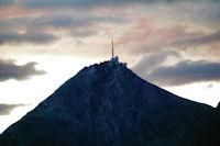 Le Pic du Midi de Bigorre dans les rougeurs du matin