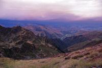 La vallee de Houtheyde dans les rougeurs du matin