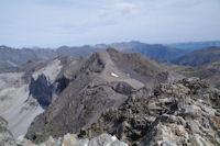 Les pics Est du Cirque de Troumouse depuis le Pic de la Munia