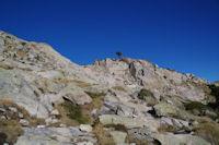Le col de franchissement des cretes de Barris d'Aubert