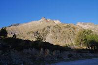 Le Pic de Neouvielle depuis le parking du Lac d'Aubert
