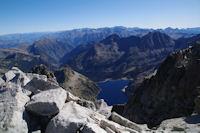 Le Lac de Cap de Long depuis le sommet du Pic de Neouvielle