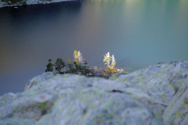 Un ilet dans le Lac d_Aubert