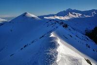 La crête entre le Pic de Nerbiou et le Soum de Maucasau
