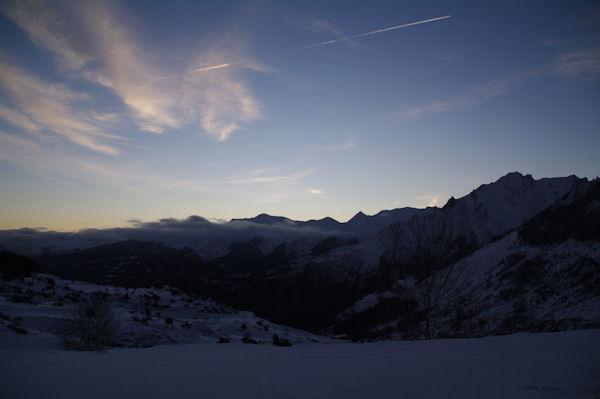 Lever de soleil sur le Val d_Azun
