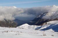 Une arche de nuage sur la vallee de Pau
