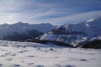 A gauche, le Pic du Midi d'Arens, a droite la Pointe de Surgatte