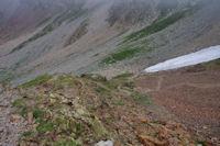 Descente du Col des Mulets, cote Espagnol