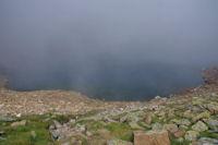 Le Lac du Col d'Arratille, dans la brume