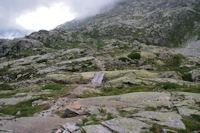 Passerelle pour passer rive droite du Gave d_Arratille