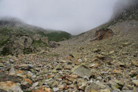 Premieres pentes du Col des Mulets