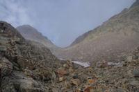 Le Col des Mulets droit devant