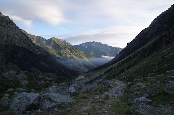 La vallée du gave d_Arrens, au fond, le Grand Gabizos