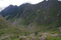 La vallee du Gave d'Arrens depuis le deversoir de la Pacca