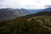 La vallee du Bergons depuis les pentes du Soum de Laya