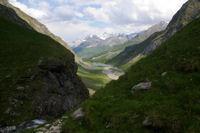 La vallee du Gave d'Ossoue depuis la cascade