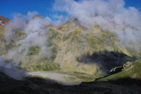 Les Oulettes de Gaube, le Pic des Oulettes et le Col des Mulets