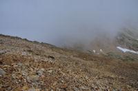 La Hourquette d'Ossoue dans le brume