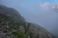 Le chemin en remontant au dessus du refuge des Oulettes de Gaube