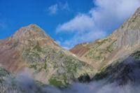 Le Pic des Oulettes et le Col des Mulets