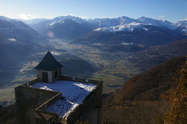 La vallée du Gave de Pau et Argelès Gazost depuis le Pic du Pibeste