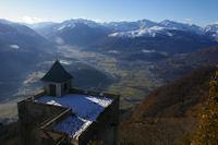 La vallee du Gave de Pau et Argeles Gazost depuis le Pic du Pibeste