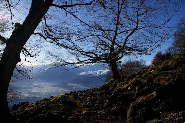 La vallée du Gave de Pau et Argelès Gazost depuis le col entre la Pène de Souquete et le Roc de Darré Espouey