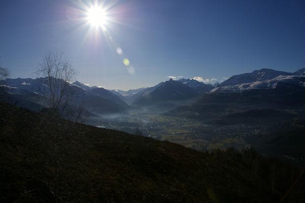 La vallée du Gave de Pau et Argelès Gazost depuis l&#39Espi Blanc
