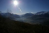 La vallee du Gave de Pau et Argeles Gazost depuis l&#39Espi Blanc
