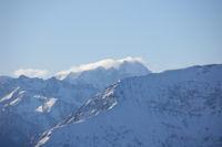 Le Vignemale embrume depuis le Pic du Pibeste