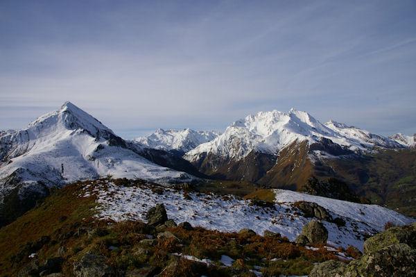 Le Pic du Midi d&#39Arrens et les Gabizos depuis le Pic Arrouy