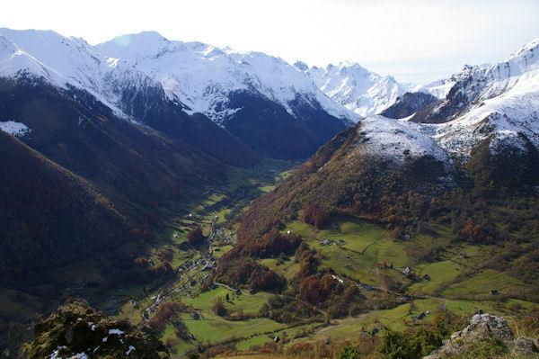 La vallée d&#39Estaing depuis le Pic Arrouy