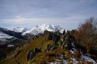 Les Gabizos depuis la crete entre le Pic de Pan et le Pic Arrouy