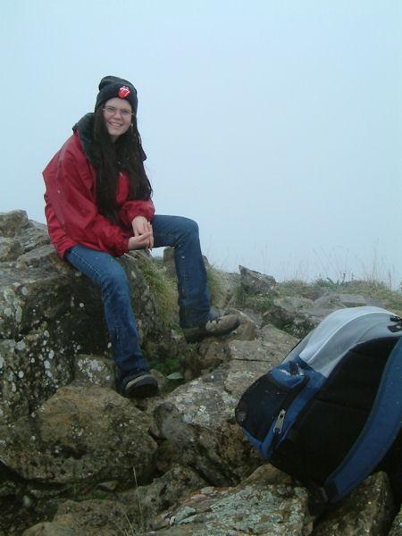 Camille au Pic de Bazes