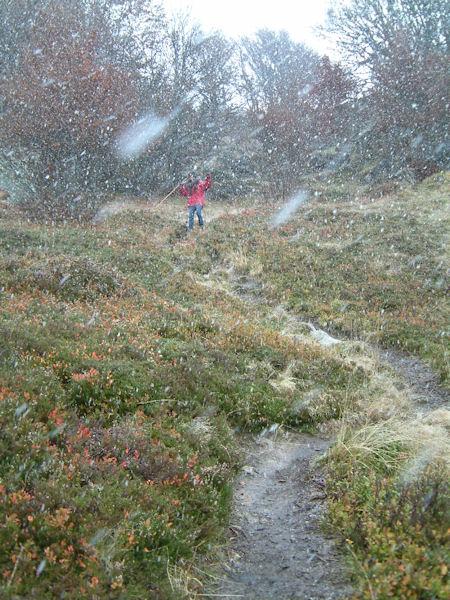 Tempête de neige en descendant du Pic de Bazes
