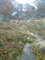 Tempete de neige en descendant du Pic de Bazes
