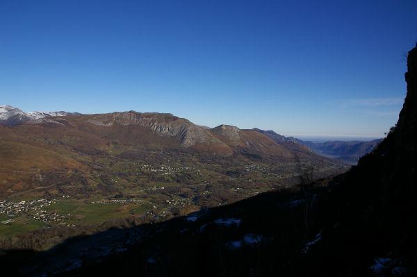 Le Val d&#39Azun depuis les pentes du Pic de Pan