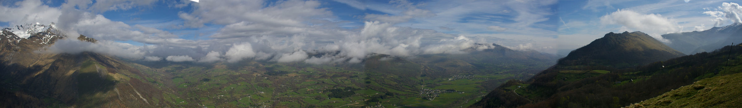 Panorama sur le val d&#39Azun