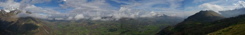 Panorama sur le val d'Azun