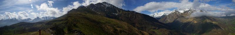Panorama autour du Pic du Midi d&#39Arrens