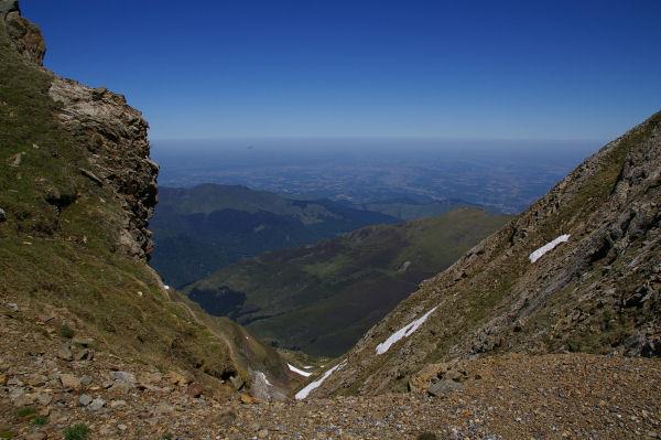 La vallée de Bagnères de Bigorre depuis le col des Laquets